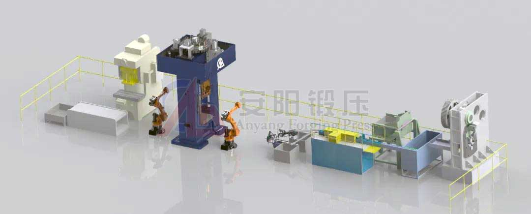 forging automation line with screw direct drive press