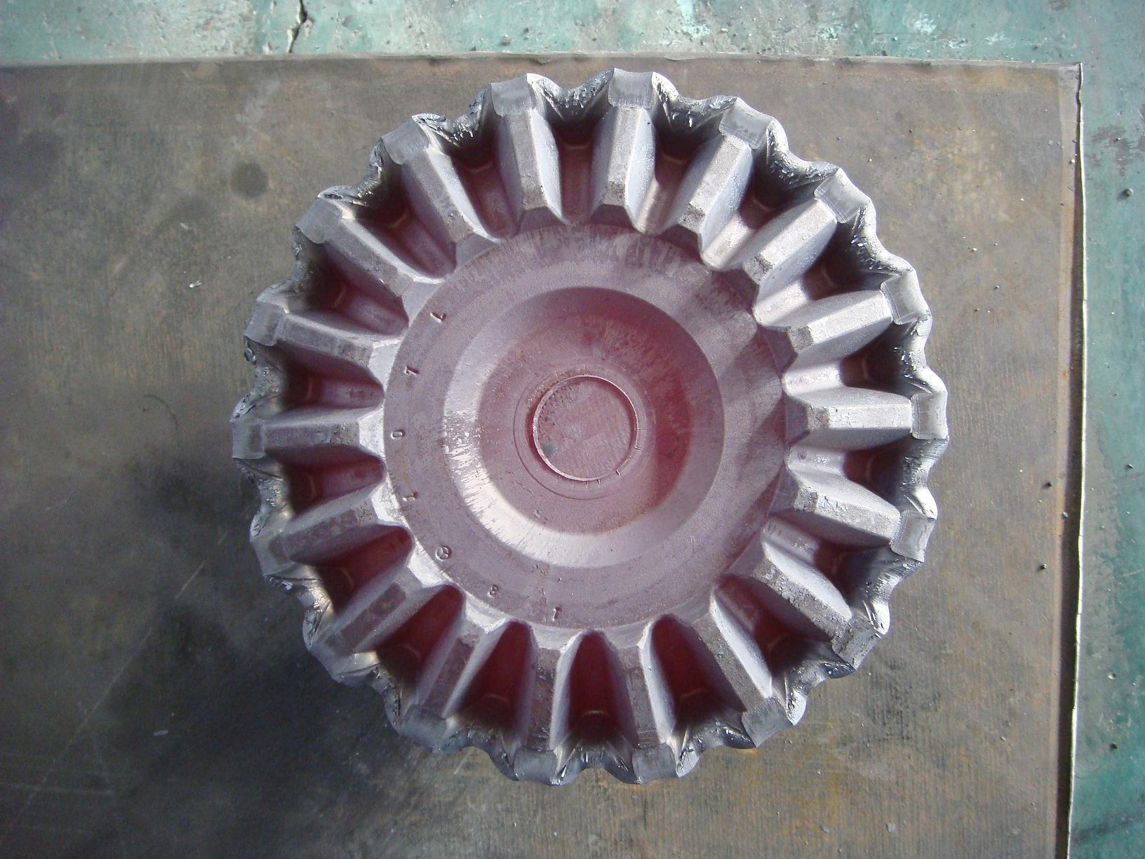 Precision forging straight bevel gear forging production line